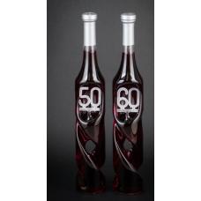 Csavart évszámos díszüveg